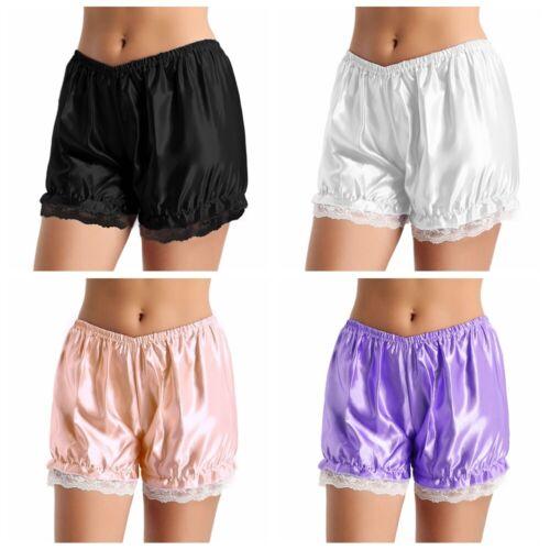 Womens Girl Lace Ruffle Shiny Lolita Pumpkin Bloomers Short Pants Safety Shorts