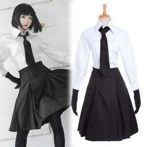 Stray-Dogs-Akiko-Yosano-Cosplay-Costume-School-Uniform-Gloves-Skirt-Outfit-Suit