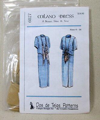 Pattern 6027- Dos de Tejas - Milano Dress - Sizes 6-24