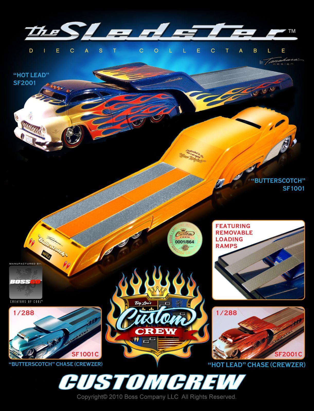Sledster (4 pc. Set) Flatbed Hot Wheels Drag Bus Evo