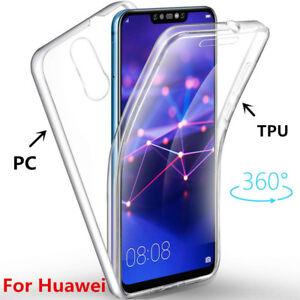 new style 3157d efbf6 Details about Shockproof 360° Soft Clear Hard Back Case For Huawei Mate 20  10 Lite P20 Nova 3i