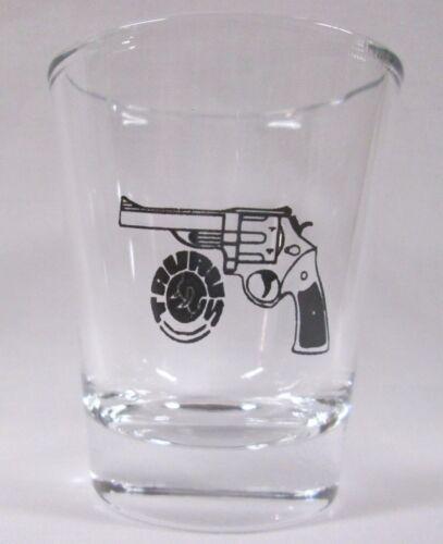 Taurus Guns Rifles Logo on Clear Shot Glass