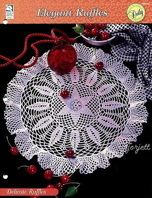 Elegant Ruffles crochet pattern leaflet White Ruffles Doily Topper