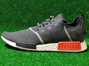 best sneakers 265eb 842d6 Details about New Adidas NMD Runner R1 S31510 Nomad Grey Orange Red 3M  Running SZ 14