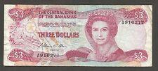 Bahamas 3 Dollars 1984; F+; P-44, L-B309a; Regatta; QEII