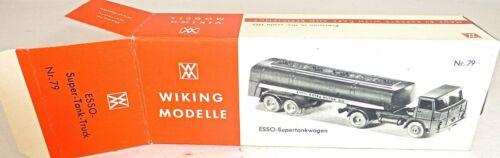 79 esso Super Tank Truck camión cisterna Wiking cartón vacía para Henschel hs16 Å *