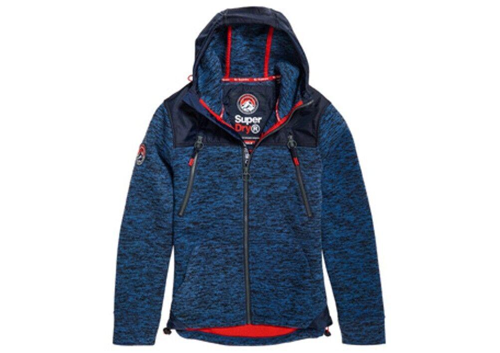 SUPERDRY herren Mountain Zip Hood Sweatshirt Indigo Navy Marl Größes  S - XXXL