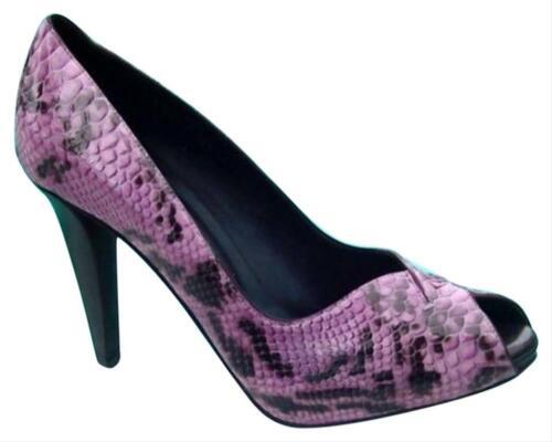 Donald Pliner Couture Python Leather Shoe Pump New Peep-Toe Platform $400 NIB