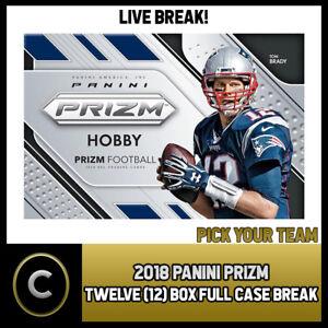2018-PANINI-PRIZM-FOOTBALL-12-BOX-FULL-CASE-BREAK-F040-PICK-YOUR-TEAM