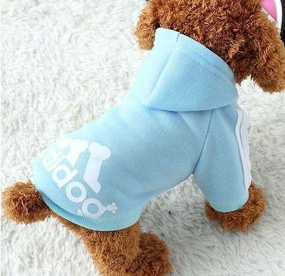 Winter Casual Adidog Pet Dog Clothes Warm Hoodie Coat Jacket Clothing For Dog