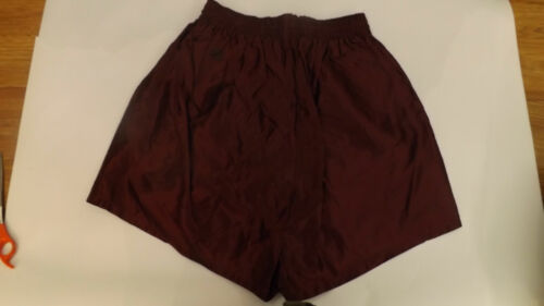 60s Vtg NOS Shiny Satin Acetate Maroon Swimsuit Ba