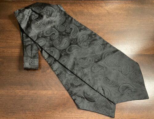 Phat Farm Black Silk Paisley Ascot Tie