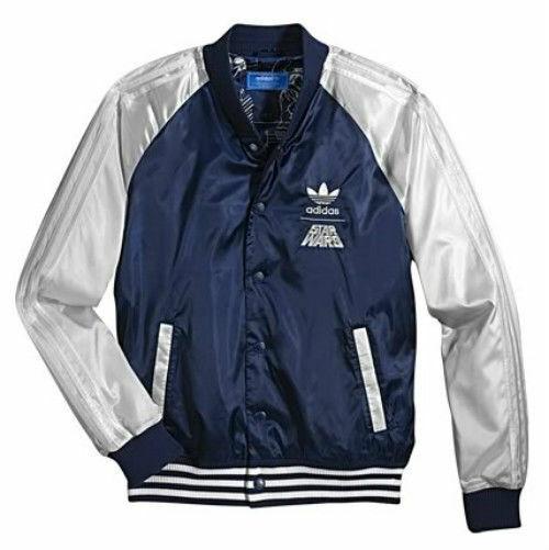 Percepción Confinar Ya que  adidas Star Wars Satin Bomber Empire Dark Blue Track Top Jacket Size M L XL  for sale online | eBay
