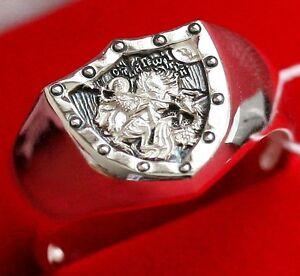 st george warrior patron men russian orthodox icon ring