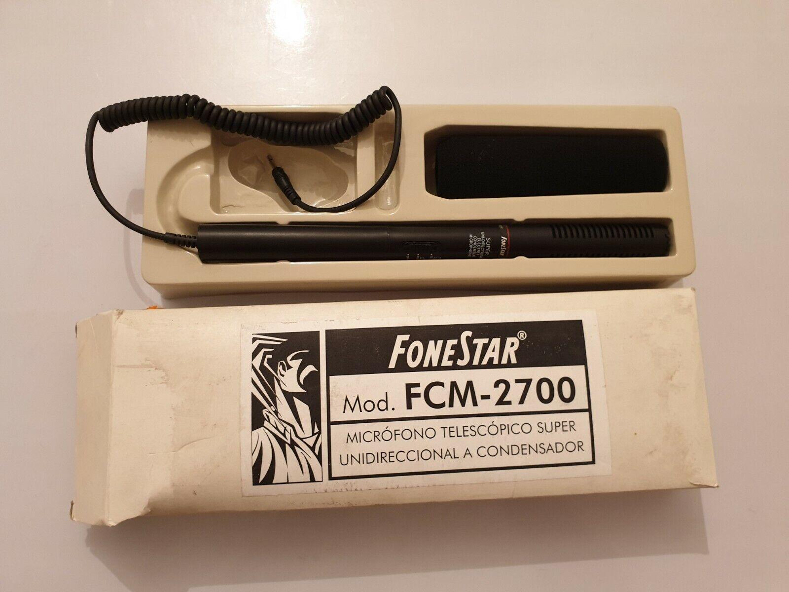 Microfono FoneStar mod.FCM-2700 telescopico Super unidireccional a condensador