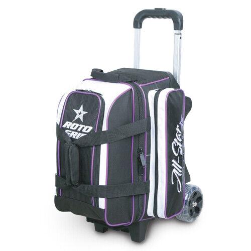 Roto Grip 2 Ball Bowling Roller Bag Color Black White Purple Trim New June 2019