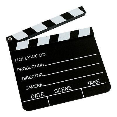 2 tlg Filmset Megafon Filmklappe weiß Flüstertüte Regieklappe Bullhorn Clapboard