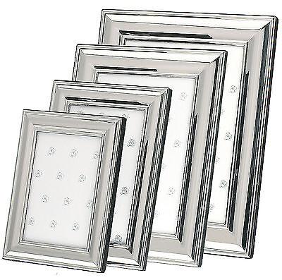 Bilderrahmen Silber Fotorahmen Metall versilbert 9x13 10x15 13x18 15x20 neu