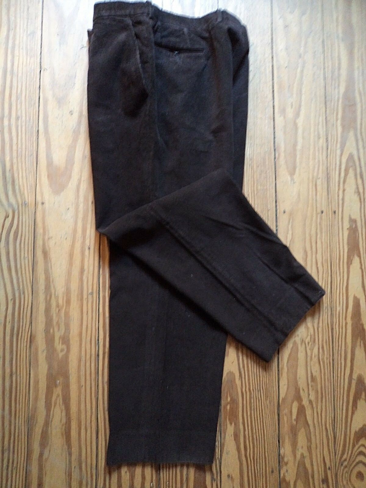 Lanvin PARIS finemente Kord Pantaloni In In In Marronee Scuro MADE IN FRANCE TG 56 come nuovo NP ccbcb8