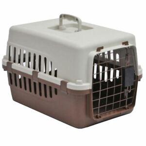 Pet-Carrier-Cage-Dog-Cat-Kitten-Puppy-Travel-Vet-Transport-Portable-White-Brown