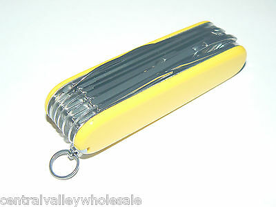 New Victorinox Swiss Army 91mm Knife YELLOW HANDYMAN 24 Features 53722 Y