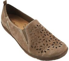 Earth Origins Women's Sugar Suede Perforated Slip-On Shoes in Sedona Size 8.5