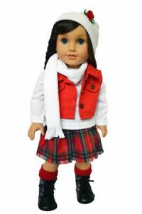 Doll-Clothes-18-034-Skirt-Top-Vest-Scarf-Hat-Boots-Fits-18-034-American-Girl-Dolls