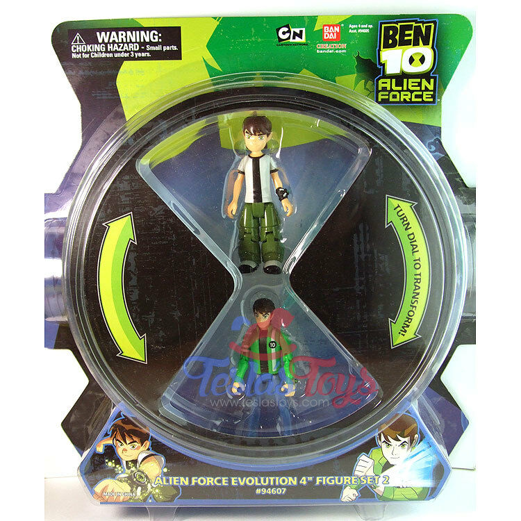 Ben 10 Alien Force Evolution Action Figure Set  2 - Diamondhead (battle), Chr...