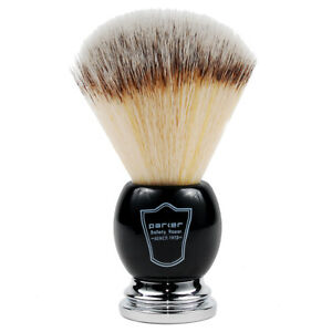 Parker-Black-amp-Chrome-Handle-Syntheic-Shaving-Brush-and-Stand