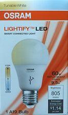 OSRAM LED Bulb Dimmable LIGHTIFY A19 Tunable White 9.5W LED Light 60 E19748 E27
