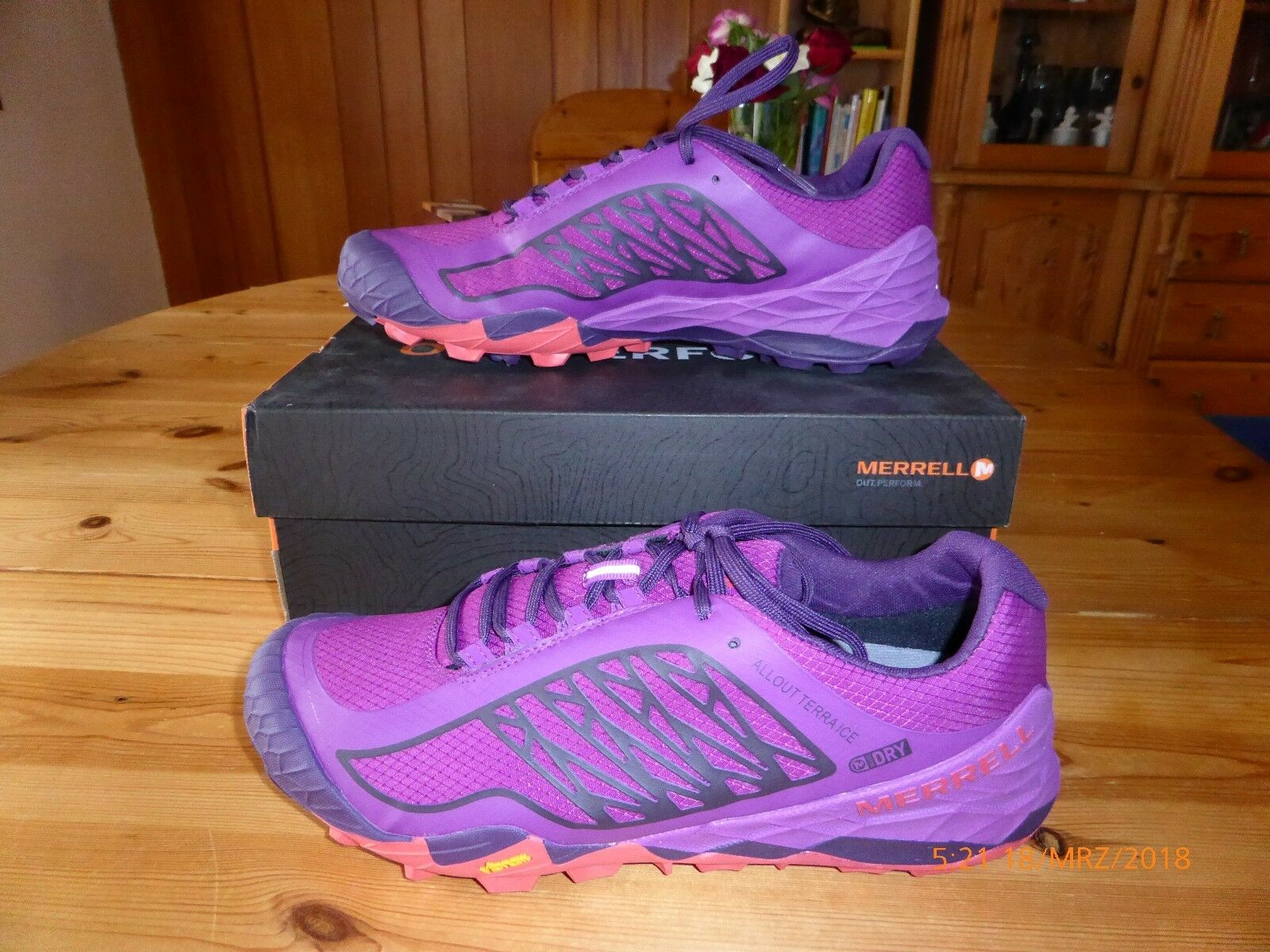 Merell-all out terra ICE-impermeabile-viola-Tg. 42,5 - trailrunning | Consegna veloce