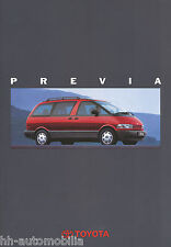 Toyota Previa Prospekt 5 94 brochure 1994 Auto PKWs Japan Autoprospekt Asien car