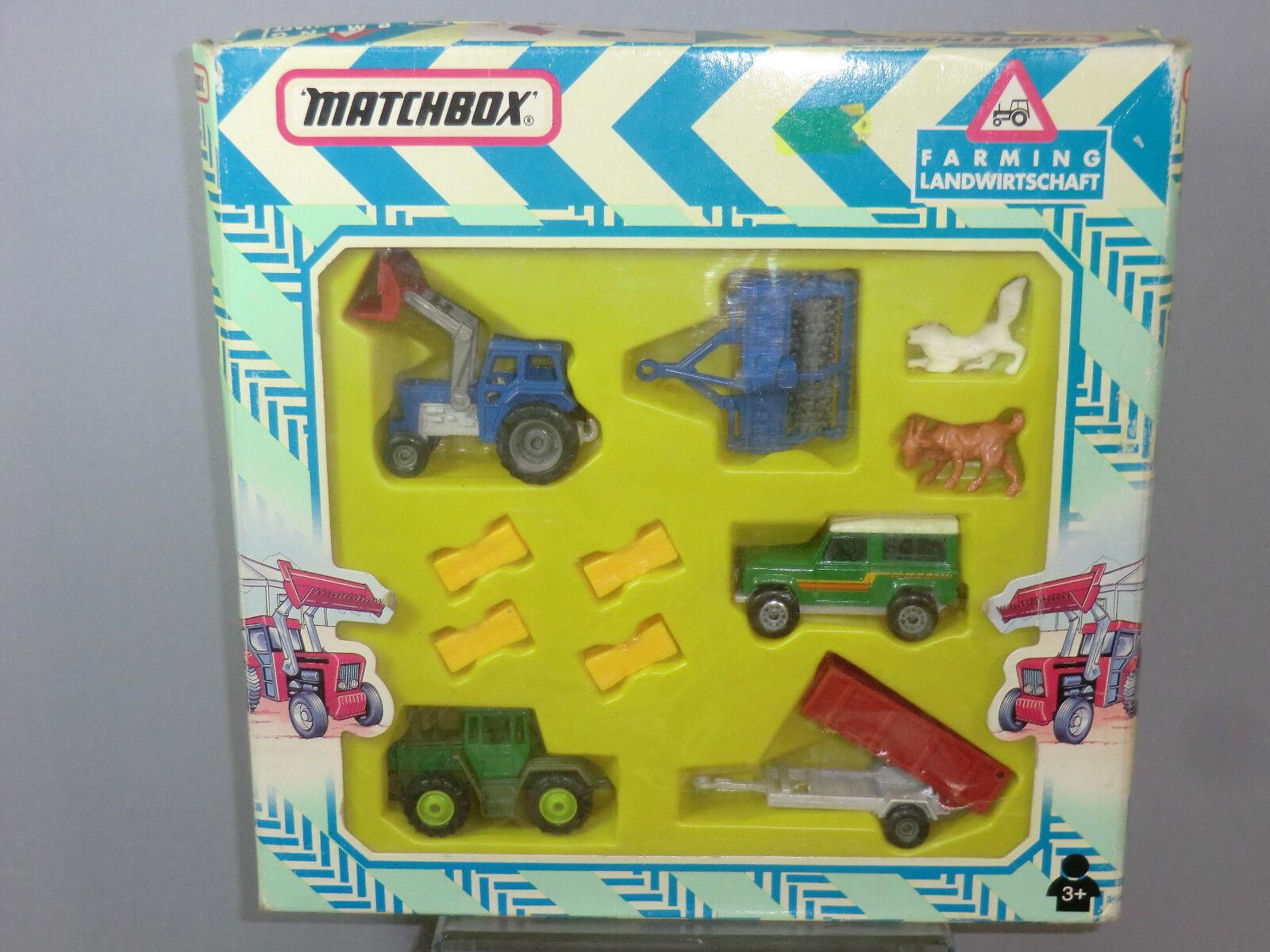 MATCHBOX MODELLO No.FM11 AGRICOLTURA  11 PEZZI  Gift Set VN Nuovo di zecca con scatola