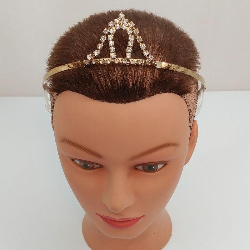 Goldtone and Clear Crystal Rhinestone Vintage Tiara
