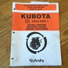 Kubota D600 Bbs 1 Diesel Engine Parts Manual Book Catalog List Pn 97898 50440