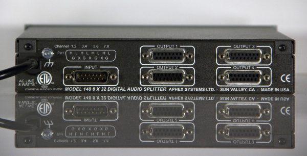 Aphex 148 Active Digital Audio Splitter 8X32 AES EBU WITH 192KHz Sample Rate NEW