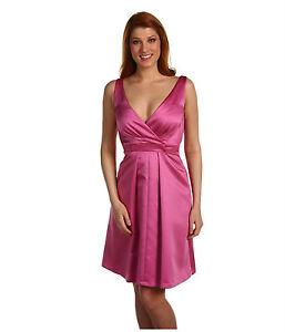 NWT Tahari by ASL Satin Sleeveless Formal Cocktail Bridesmaid Dress Pink