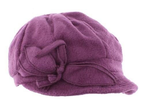 Pia Rossini Ladies Shelley Fleece Lined Cap Black//Pink//Purple//Silver