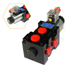 1x 6port Hydraulic Solenoid Operated Selector Diverter Valve 12 Volt Dc 13 Gpm I
