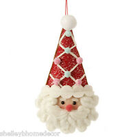 Santa Face Christmas Ornament Plush Candy Decoration Sp 3420013 Raz