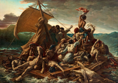 Art Print//Poster Theodore Gericoult The Raft of the Medusa
