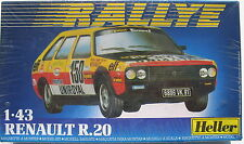 Heller 80 163 - Renault R.20 - RALLYE - 1:43 - Modellbausatz Kit - Bausatz - NEU