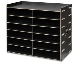 AdirOffice-Wood-12-Compartment-Paper-Literature-Organizer-Sorter