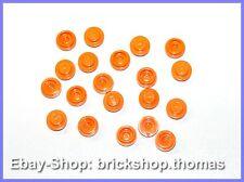 Lego 20 x Platte rund Orange (1 x 1) - 4073 - Plate round - NEU / NEW