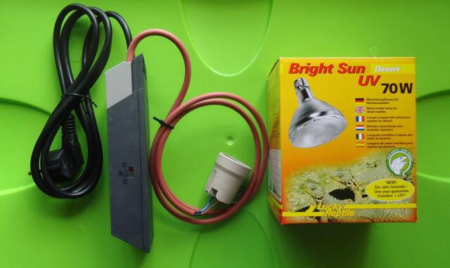 LR Bright Sun UV Desert 70W Spot inkl. 35/50/70W Multifunktions EVG Komplettset