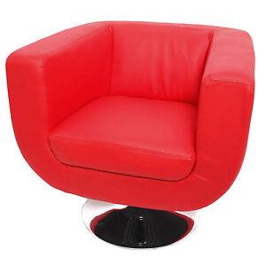 lounge sessel bar sessel club sessel modena ii rot ebay. Black Bedroom Furniture Sets. Home Design Ideas