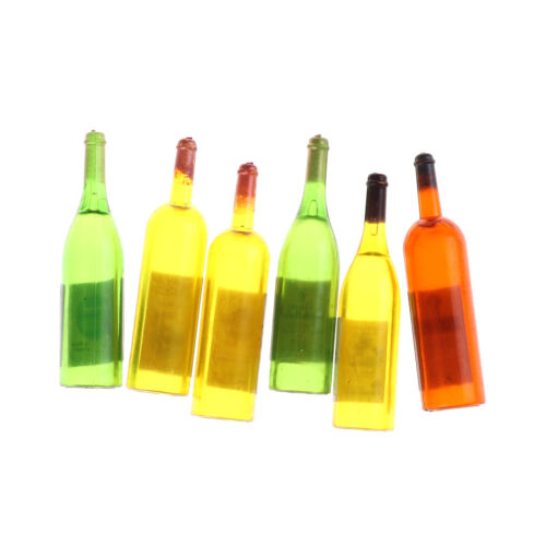 6 Bottle Wine for 1:12 Scale Dollhouse Miniatures Dining Drink Pip WTES