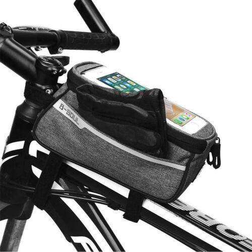 Waterproof MTB Mountain Bike Frame Front Bag Bicycle Mobile Phone Holder E