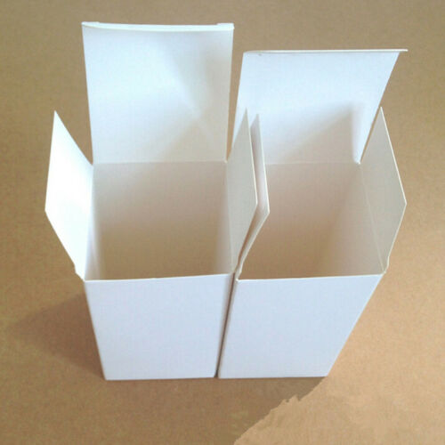 50X White Cardboard Box Gift Jewelry Kraft Paper Package Wedding Candy Packing