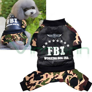 Cappottino Mimetico Invernale Impermeabile Fbi Dog Cappotto Vestito Cane Inverno Par Processus Scientifique